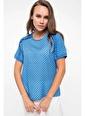 DeFacto Omuz Fırfır Detaylı Bluz Mavi